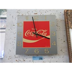 Vintage German Language Coca-Cola Wall Clock