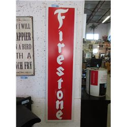 "Metal Firestone Sign - 12"" x 48"" Tall"