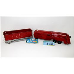 1950s Marx Locomotive & Coal Car w/ Wood Wheels