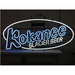 "Vintage Electric Neon ""Kokanee Glacier Beer"" Sign"