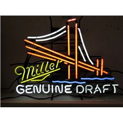 "Vintage Electric Neon ""Miller Genuine Draft"" Sign"