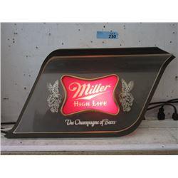 """Vintage """"Miller High Life"""" Electric Back Lit Sign"""
