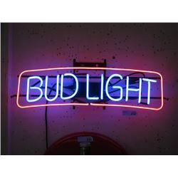 "Vintage Electric Neon ""Bud Light"" Sign"