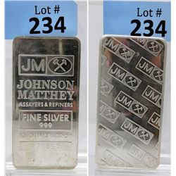 10 Oz Johnson Matthey .999 Silver Bar