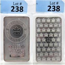 10 Oz Royal Canadian Mint .9999 Silver Bar