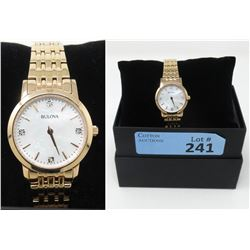 New in Box Ladies Diamond Bulova Watch
