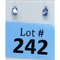 New 10KT White Gold Diamond & Tanzanite Earrings
