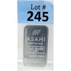 1OzAsahi Refining .999 Silver Bar
