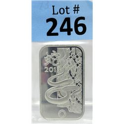 1 Oz. Rand Refinery .999 Silver Bar