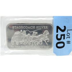 1 Oz Stagecoach .999 Silver Art Bar