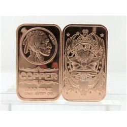 10 x 1 Ounce .999 Fine Copper Investor Bars