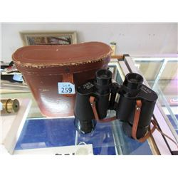 Omega Binoculars with Leather Case - 10 x 50
