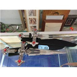 2 New Stainless Steel Skull & Crossbones Knives