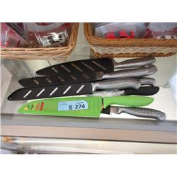 8 Kitchen Knifes - Store Returns