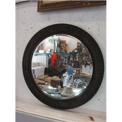 36  Diameter Beveled Glass Wall Mirror
