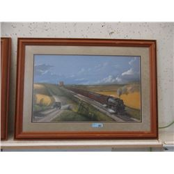 Signed Max Jacquiard Framed CP Rail Train Print