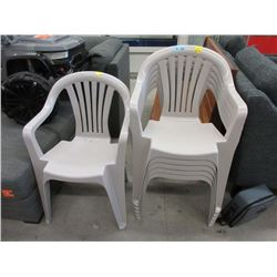 6 Stacking Plastic Patio Chairs - Store Returns