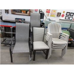 1 Dining Chair and 7 Patio Chairs - Store Returns