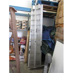 Accordion Gates with Top Rail and Key