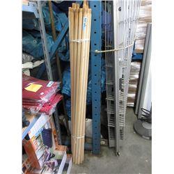 24 New Wood Mop / Broom Handles