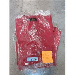 6 New Red Denim Shirts - 2 XL & 4 XXL