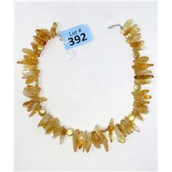 """16"""" Polished Citrine Gemstone Necklace"""