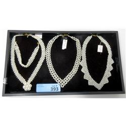 "3 New 16""  Pearl Necklaces and 1 Bracelet"