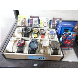 Watch Tray & 16 Assorted Watches - Store Returns