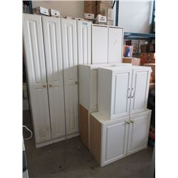 7 Assorted White Cabinets