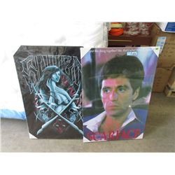 """1 Sueen and 1 Scarface Canvas Wall Art - 24"""" x 36"""""""
