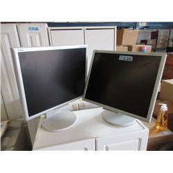 "2 NEC 19"" LCD Monitors"