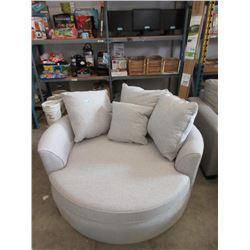 New Stylus Grey Fabric Cuddler Chair