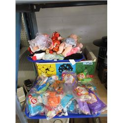 40 Dolls, Beanie Babies and McDonalds Toys