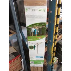 Deluxe Bamboo Fold Away Clothes Line -Store Return