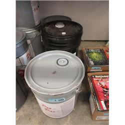 Two 5 Gallon Pails of Gym Finish & One 5 Gal Paste