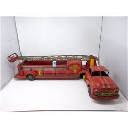 "1950s Marx 32"" Lumar VFD Hook & Ladder Fire Truck"