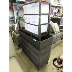 3 Drawer Cart & 4 Patio Planter Boxes