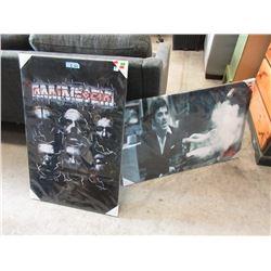 1 Scarface & 1 Rammstein Canvas Wall Art