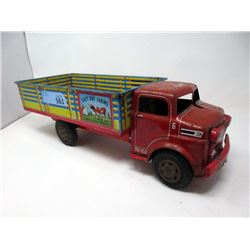 "1950's Marx Lumar 18"" Litho ""Lazy Day Farm"" Truck"