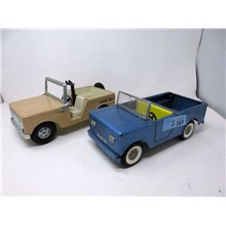 1 Vintage Buddy-L & 1 Structo Toy Jeep