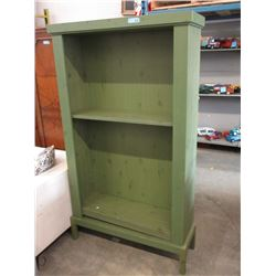 "Green Wood Book Shelf - 14"" x 41"" x 72"" tall"