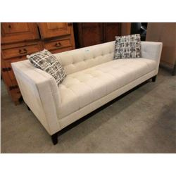 "New Stylus 81"" Ivory Fabric Sofa"