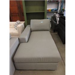 Stylus Grey Fabric Chaise
