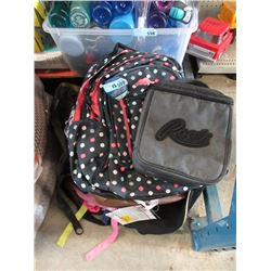 12 Assorted Back Packs & Lunch Bags