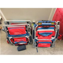 4 Backpack Lawn Chairs - Store Returns