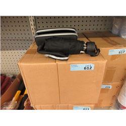 Case of 12 New Black Compact Umbrella
