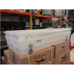 2 Rolling Underbed Storage Containers