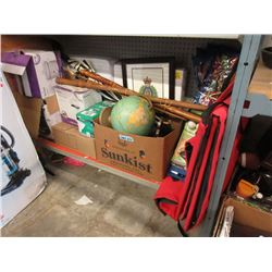 Large Shelf Lot of Household Goods & Collectibles