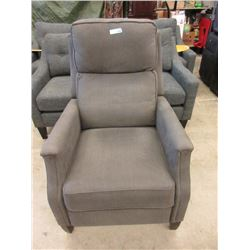Grey Manual Reclining Fabric Arm Chair