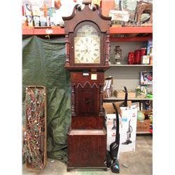 Victorian Mahogany Painted Face Grandfather Clock